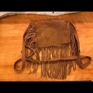 Cross body boho fringe bag